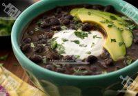 سوپ لوبیای سیاه