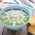 سوپ بروکلی و سیب زمینی برای کودک