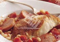 کسرول مرغ و لوبیا سفید