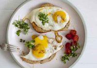 شروع صبحانه با تخم مرغ برای کاهش وزن