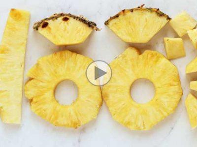 چگونه آناناس را حلقه ای برش بزنیم؟