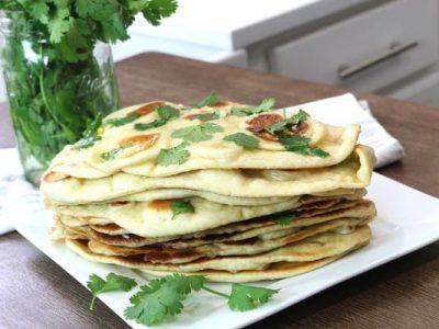 نان سیر هندی بدون فر