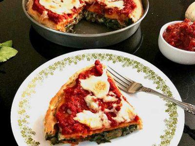 پیتزا اسفناج