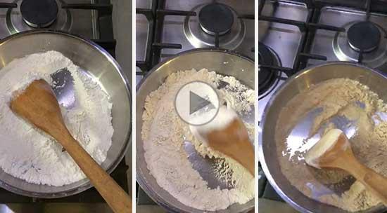 چگونه آرد را برای تهیه حلوا تفت دهیم؟