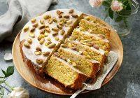 کیک پسته با فراست لیمویی