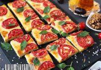 تارت پنیری با گوجه فرنگی و ریحان